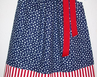 Patriotic Dress Pillowcase Dress Girls Dress Stars and Stripes red white and blue baby dress toddler dress 4th of July Dress Summer Dress