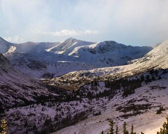 Landscape Photography, Colorado Mountain Photography, Colrado Art, Mountains Decor, Breckenridge Colorado, Timberline, Mountains, Snowy Peak