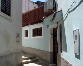 Croatia Photography, Europe, European, Alleys, Streets, Coastal Living, Pastel, Blue