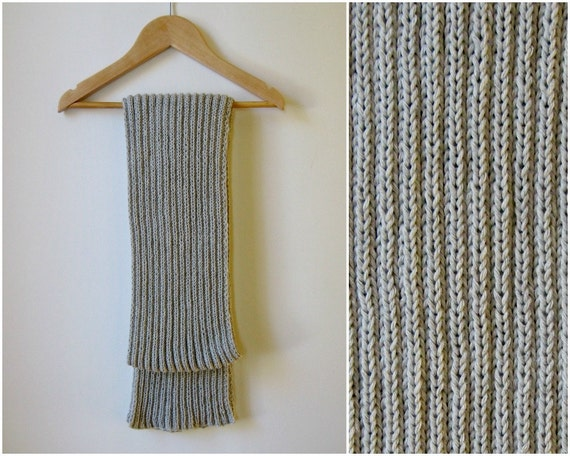 Light Gray Scarf, Cotton Scarf, Knit Scarf, Summer Fashion Long Scarf, Spring Scarf, Womens Scarves, Mens Scarf, Cute Scarf, Hand Knit Scarf