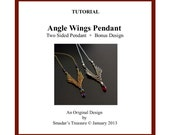 Beading Tutorial, Angel Wings - Reversible Pendant. Beading Pattern with Seed Beads and Crystals. Beadweaving Instructions, PDF File Pattern