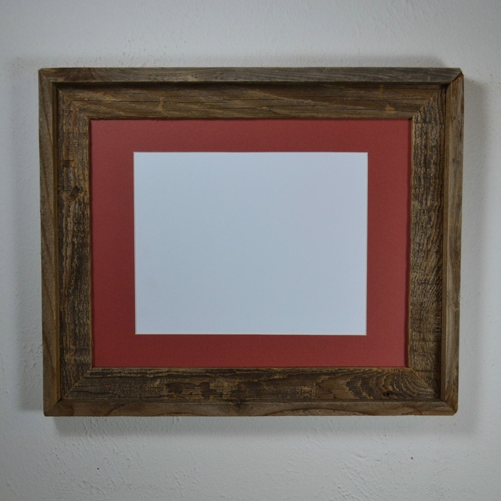 11x14 Weathered Wood Frame With Mat For 8x108 1 2x118x12 Or