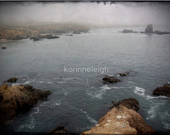 Rock and Sea Photo - Greeting Cards, scenic ocean,rocks, beach, atmospheric, gothic Set of 5 Blank photo cards