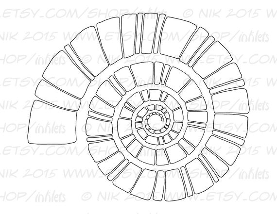 spiral coloring pages to print | Items similar to Spiral Coloring Page Template Printable ...