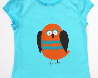 Kids Owl Tee Shirt / Boys / Girls / Baby Clothes / Children's Top / Kids T-shirt
