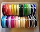 "65% OFF-- 3/8"" Sheer Organza Ribbon--FULL ROLL--25 yards--You Choose Color"