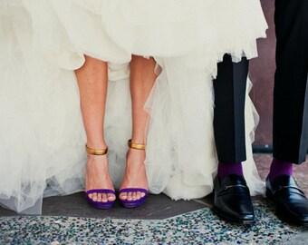 PLUM  specialty color grooms socks, groomsmen socks, wedding gift, bridal party
