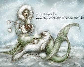 Set of 6 (Cocoa Mermaid) Card