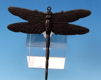 Dragonfly Pendant, Matte Black, Trinity Brass MB56