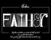 FATHER Letterart Poster INSTANT DOWNLOAD - Father's Day Gift