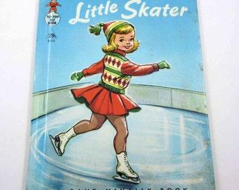 Little Skater Vintage 1950s Children's Rand McNally Book Illustrated by Dorothy Grider
