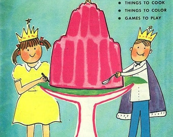 COLOR AND COOK Your Royal Book Things to Make Cook Color & Games to Play Vintage 1960s