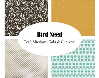 Custom Crib Bedding-Bird Seed