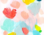 NEW! abstract fine art print . petals . a4 - a2, three sizes . free shipping within australia