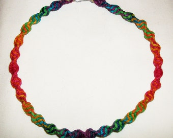 Super Phat Rainbow Hemp Necklace - Hemp Jewelry