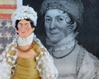 Dolley Madison Doll Miniature Historical Character American History First Lady
