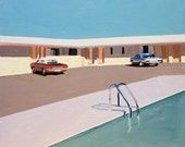 "Motel painting - PRINT 13"" x 13"", 2015"