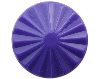 Vintage Purple Ribbed Acrylic Cabochons 30mm (2) cab830F