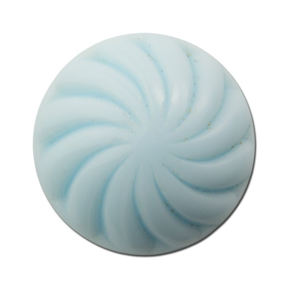 Vintage Light Blue Glass Swirled Domed Cabochon 19mm (2) cab219A
