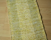 SUNNY DAY -- Hand-woven yellow striped table runner