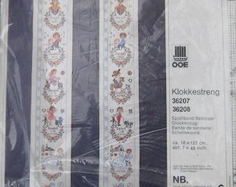 Oehlenschlager Design Klokkestreng Bell Pull Cross Stitch Pattern