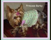 Pet Clothing To Order Baby Doll Slip Dress Shirt Happy Animals To Order XXSmall to Medium