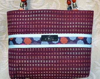 Plum Petals Handbag