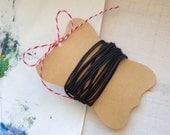 Waxed Black Cotton Cord 1.5mm x 6 feet