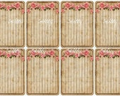 Shabby Chic Digital Collage sheet for scrapbook and cards Journal cards DC738