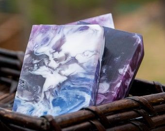 Handmade Glycerin and Shea Butter Soap - Black Raspberry Vanilla Soap // Gifts for Her