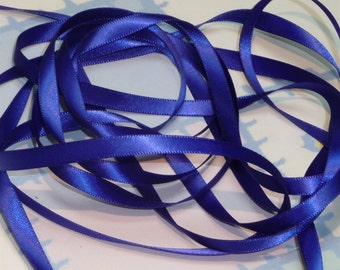 VIOLA DouBLe FaCeD SaTiN RiBBoN, Polyester 1/4 inch wide, 5 Yards