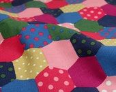4011 - Cath Kidston Patchwork Spot Cotton Canvas Fabric - 57 Inch (Width) x 1/2 Yard (Length)