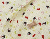 4045 - Japanese Penguin Slubbed Cotton Fabric - 52 Inch (Width) x 1/2 Yard (Length)