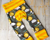 Maxaloones, You are my Sunshine cloth diaper pants, grow with me pants