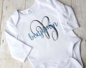 Boy coming home outfit, Name Embroidered Baby bodysuit, Monogram embroidered, personalized coming home outfit