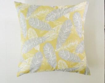 Decorative Pillow Cover Feather Pillow Yellow Pillow Bird Pillow Cushion cover