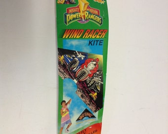 90s Vintage POWER RANGERS wind racer Kite