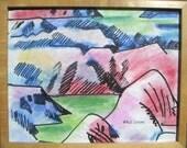 Erle Loran California Modernist Painted Desert