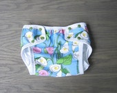 Waterproof diaper cover, training underwear for baby, toddler size Medium Calla flower