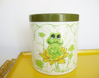 vintage Neil frog canister sears 1970s kitchen tin container