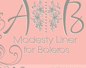 Modesty liner for boleros