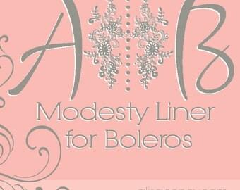 Modesty liner for boleros