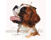 DOG Art  - Custom Dog PORTRAIT in Watercolor - 8x10 inches - Your Dog in Watercolor