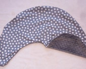 Gray and White Polka Dot and Minky Dot Pillow Cover Fits Dr Brown's Gia Pillow