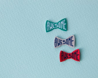 awesome die cut woven label