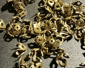 SALE !!! Brass Tiny Dots Bead Caps...50ct.