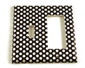 Combo Light Switch Cover Wall Decor Switchplate Switch Plate in  Polka Dots Rock (207TRC)