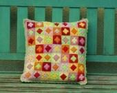 Throw Pillow Crochet Retro Boho Decorative Pillow Granny Square