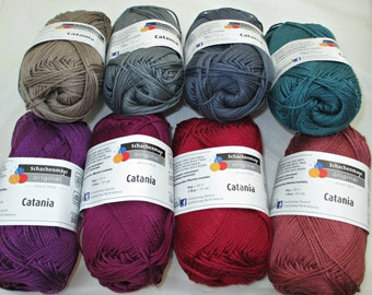 SALE: Schachenmayr Original Catania; Five Balls of Cotton Sport-Weight Yarn, Any Color Combination, 33% off US List!