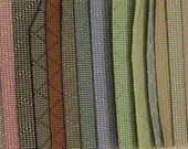 "LOT Small Boussac Scala Diamond Gingham Designer Fabric Samples Lot 7"" x 5"" 24 PCS"